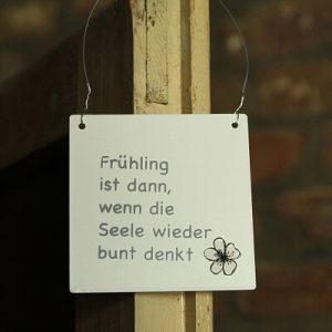 Schild Anhänger Frühling Landhausscheune