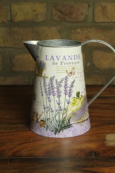 Blechkanne Lavendel Provence Landhausstil Shabby