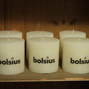 Bolsius Rustik Stumpenkerze landhausscheune ivory