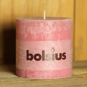 Bolsius Rustik Stumpenkerze old pink shabby Landhaus