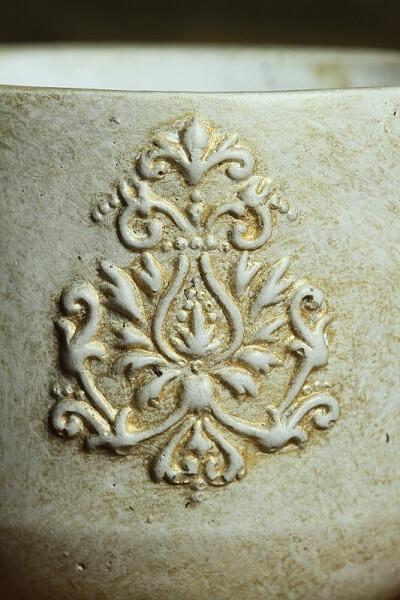 Übertopf Pflanztopf Ornament Shabby Landhausscheune