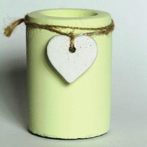Teelicht, Teelichthalter, Beton, Kreidefarbe, Shabby, Landhausscheune