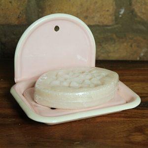 Seifenschale Emaille rosa