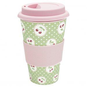Greengate Travel Mug Cherry Berry