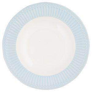greengate deep plate alice pale blue