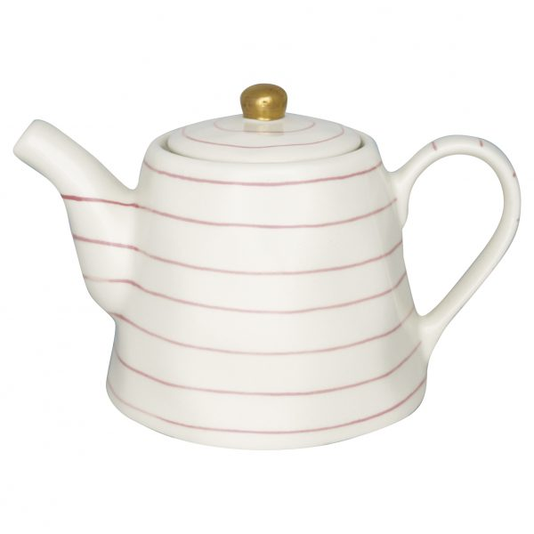 Greengate Teapot Sally pale pink with gold